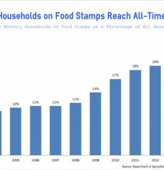 Record 20% of Households on Food Stamps in 2013