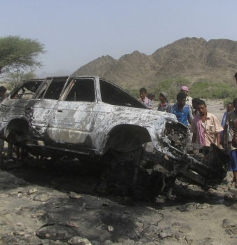 US drone strike kills at least 13 in convoy heading to wedding party, Yemeni officials say