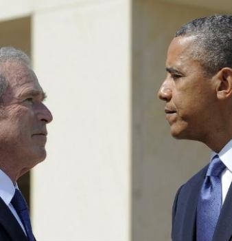 Obama has his Bush moment