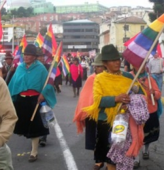 Indigenous Coalition Marches for Water Rights in Ecuador