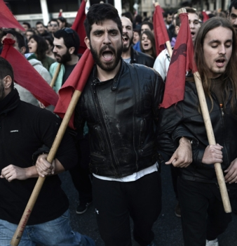 Thousands of Greeks mark 40th anniversary of student uprising, protest against austerity
